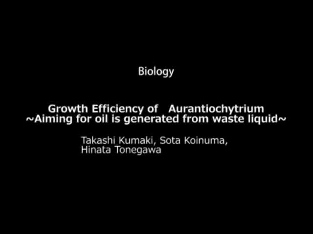 Growth Efficiency of   Aurantiochytrium