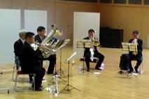 金管五重奏の演奏